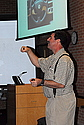 Francis Bonahon discussed new applications of the math of curves last Wendesday in a talk sponsored by the Math Department.