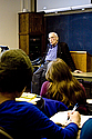Former Carleton professor Ian Barbour returned to Carleton to lecture on the relationship between religion and science.