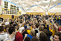 Fans celebrate the Knight's win over St. Olaf