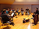 Turkish musicians instruct Carleton students during their visit to campus.