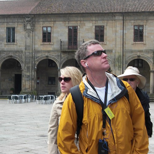 Ted and Kirsten at Compostela