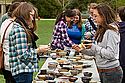 The Art and Art History Departments last week sold ceramic bowls thrown by students on the Bald Spot.