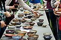 Bowls for sale at Empty Bowls on the Bald Spot.