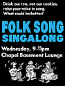 Folk Song Sing-Along Poster