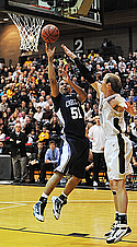 Michael Grinnell, men's basketball action