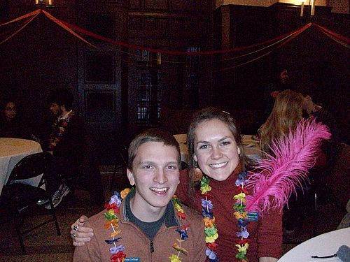 Chaplain's Associates Breanna Tetreault and Matt Weinstein at Purim/Holi Celebration