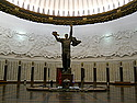 The Hall of Heroes at the Great Patriotic War Museum recognizes hero cities and individual soldiers.