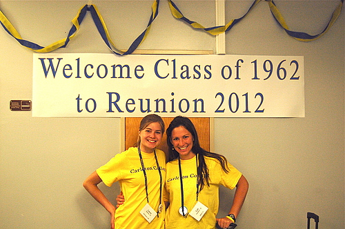Student class hosts welcome the class of 1962