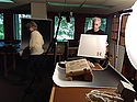 Photographing an illuminated manuscript