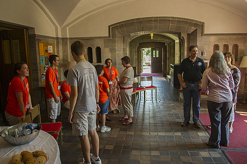 New student welcome reception in the Chapel