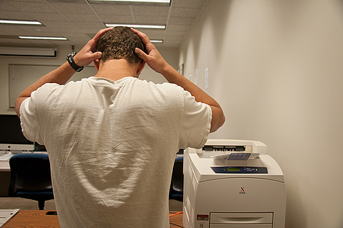 Many students have felt frustrated with the new printing system.