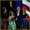 The Obama family on election night