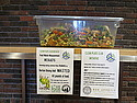 Volunteers scraped 120 pounds of food waste off student's plates during common time on Jan. 31st.
