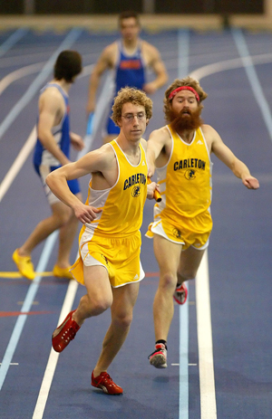Bucy Wins 800 Meters At Meeting Of The Hearts Varsity Athletics Carleton College