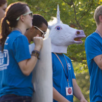 Some new students get a unicorn-in-the-headlights look when they arrive