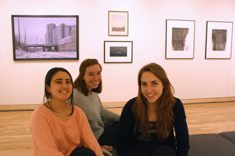 Sound Design students: Sarah Abdel-Jelil '16, Kayla Becich '16 and Elsa Cristofaro '16