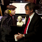 Schiller appears on the live Halloween broadcast of �A Prairie Home Companion� hosted by Garrison Keillor, right, accompanied by Rich Dworsky.