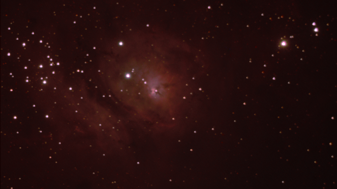An image of the Lagoon Nebula (M8) taken by YASE students