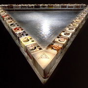 """The Dinner Party,"" an art installation by Judy Chicago"