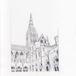 Salisbury Cathedral-Pencil Draeing by Nico Davies '03