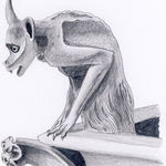 Gargoyle Study-Pencil Drawing by Nico Davies '03
