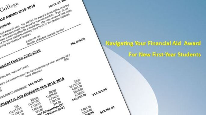 A placard image for media work Navigating Your Financial Aid Award