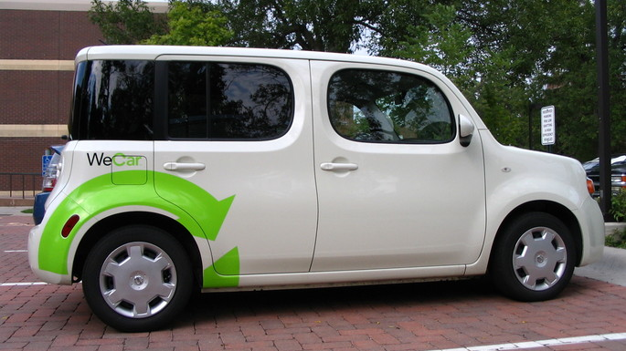 Our newest WeCar is a Nissan Cube.