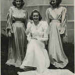 A May Queen (left) and attendants, 1940.