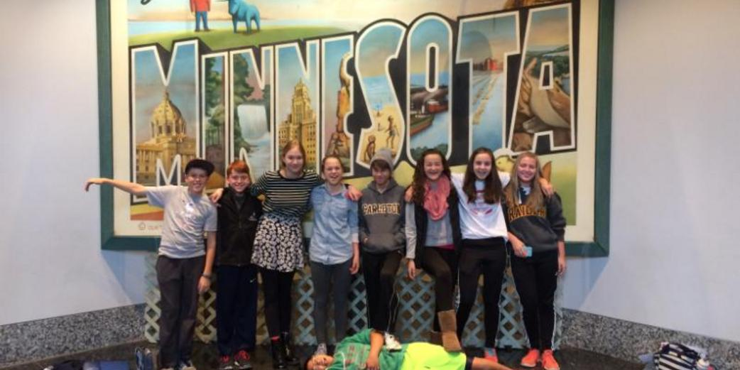 SCOPE students visit the Minnesota History Center in St. Paul.