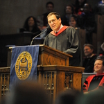 Jimmy Kolker '70 gives the Convocation Address at Opening Convocation.