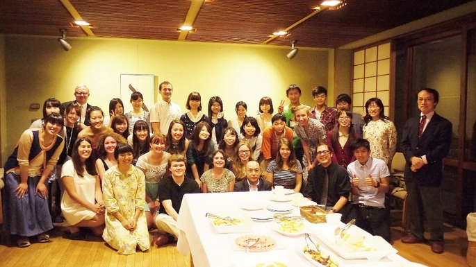 The Kyoto 2014 seminar: Carleton students and Doshisha peers.