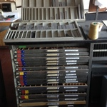 Trays of Type for Letterpress