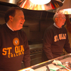 Carleton President Steven Poskanzer (left) and St. Olaf President David Anderson (right)