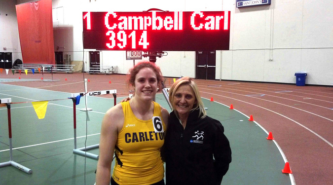 Amelia Campbell and head coach Donna Ricks