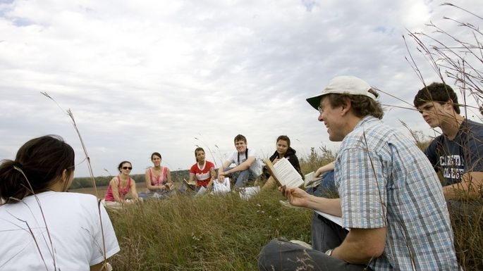 Class in the McKnight Prairie