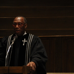 Rev. Oliver White at the Martin Luther King Jr. Chapel Service