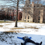 What better way to start Spring term than by making a snow angel?