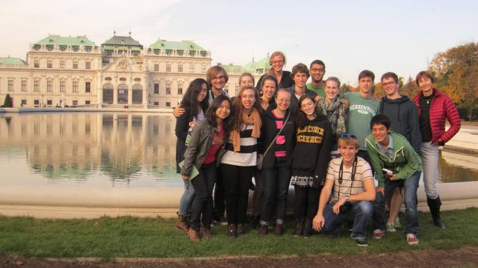 Carleton students in Vienna (OCS Berlin program '13)