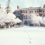 Leighton Hall in the Snow
