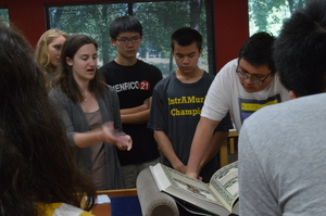 During the 2014 students visited Carleton's Special Collections.