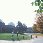 Students Outside Goodsell Observatory