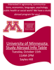 University of Minnesota Learning Abroad Center Information Session