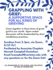 Grappling With Grief Poster, Fall 2020