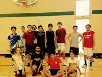 The badminton team looking fierce!