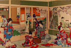 Toyohara Chikanobu, Beauty School, c. 1880