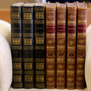 First-edition books from the Nelson collection.