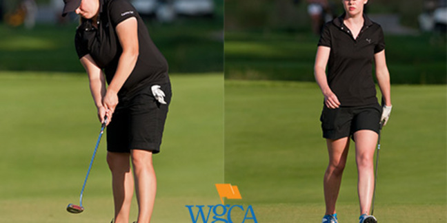 Kelsey Moede (left) and Taylor Wells, 2012-13 WGCA All-Region