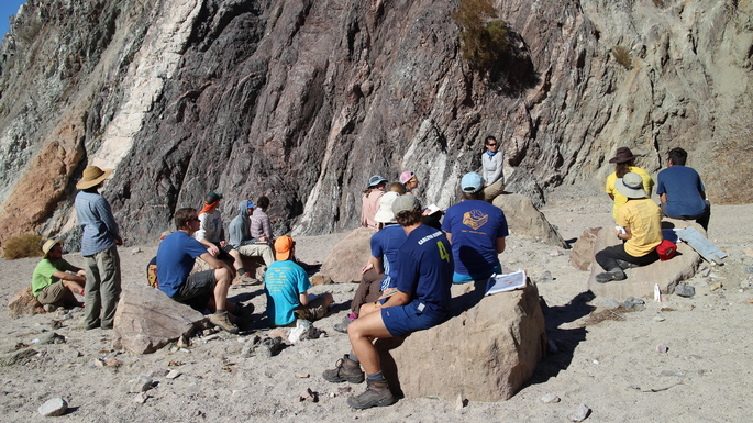 Structural Geology Trip to Painted Canyon - February 5-10, 2015