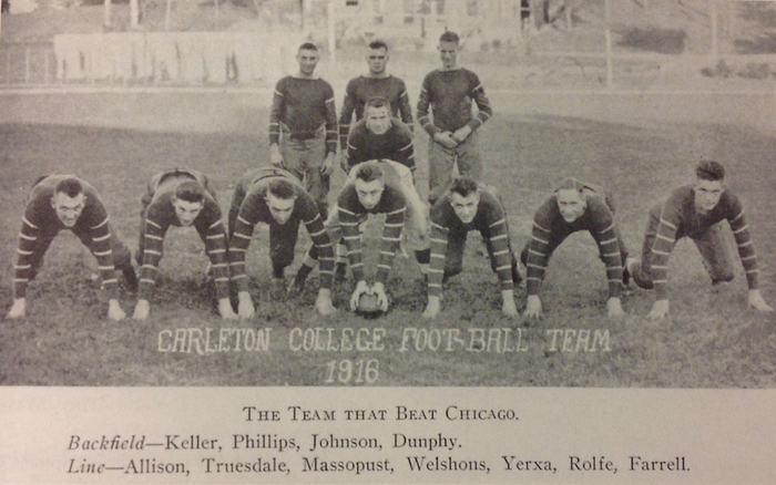 1916 Carleton football — The team that beat Chicago