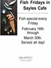 Sayles Features Fish on Fridays